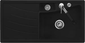 Мойка Systemceram Vega 100 Nero, чаша справа
