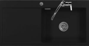 Мойка Systemceram Mera 100 SL Nero, чаша справа